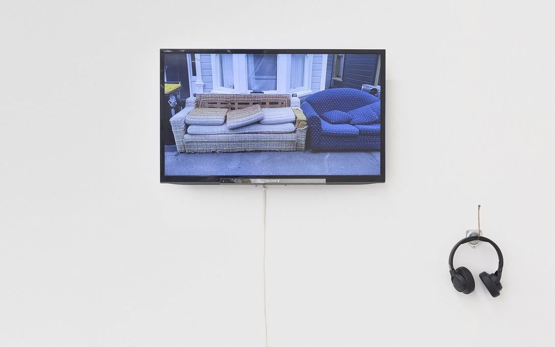 Bena Jackson and Teresa Collins, Luxurious economy, 2021, digital video, installation view. Image courtesy of Cheska Brown.