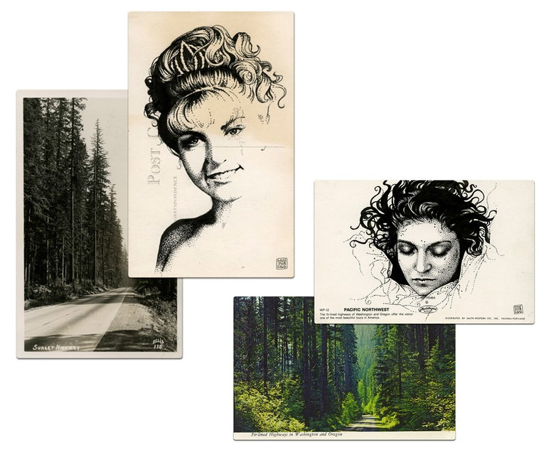 Paul Willoughby, Laura Palmer, postcards, 2011. © Paul Willoughby