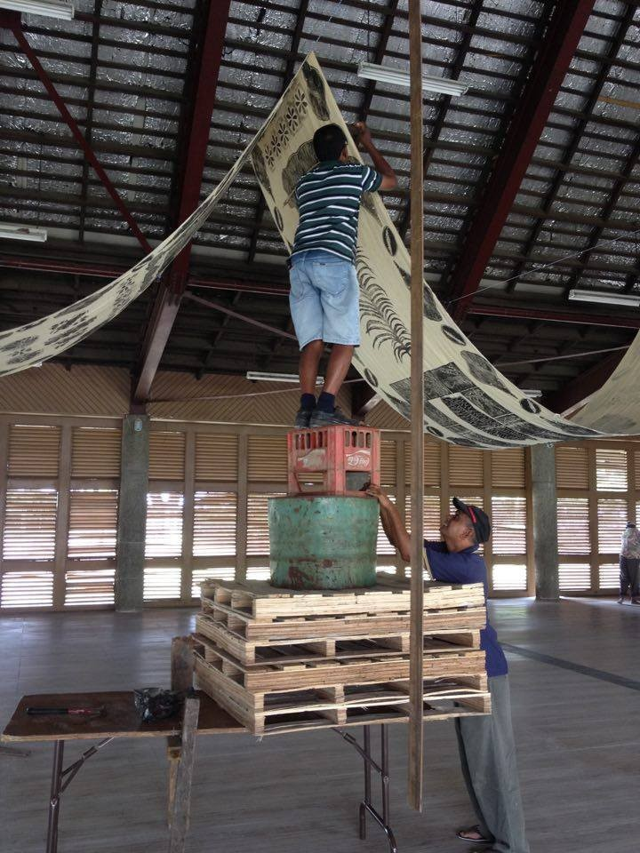Quishile Charan, Temporary Vanua, 2016. Install for the Commemoration of Centennial of Abolition of Indian Indentureship (CCAII): An International Conference, March 2017, Girmit Centre, Lautoka Fiji.