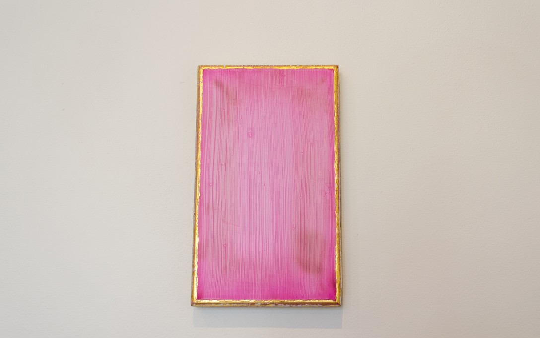 Johl Dwyer, Rose, 2014. Plaster, acrylic, oil, cedar, 24K gold, 255 x 155 x 20mm. Image courtesy of Oscar Perry.