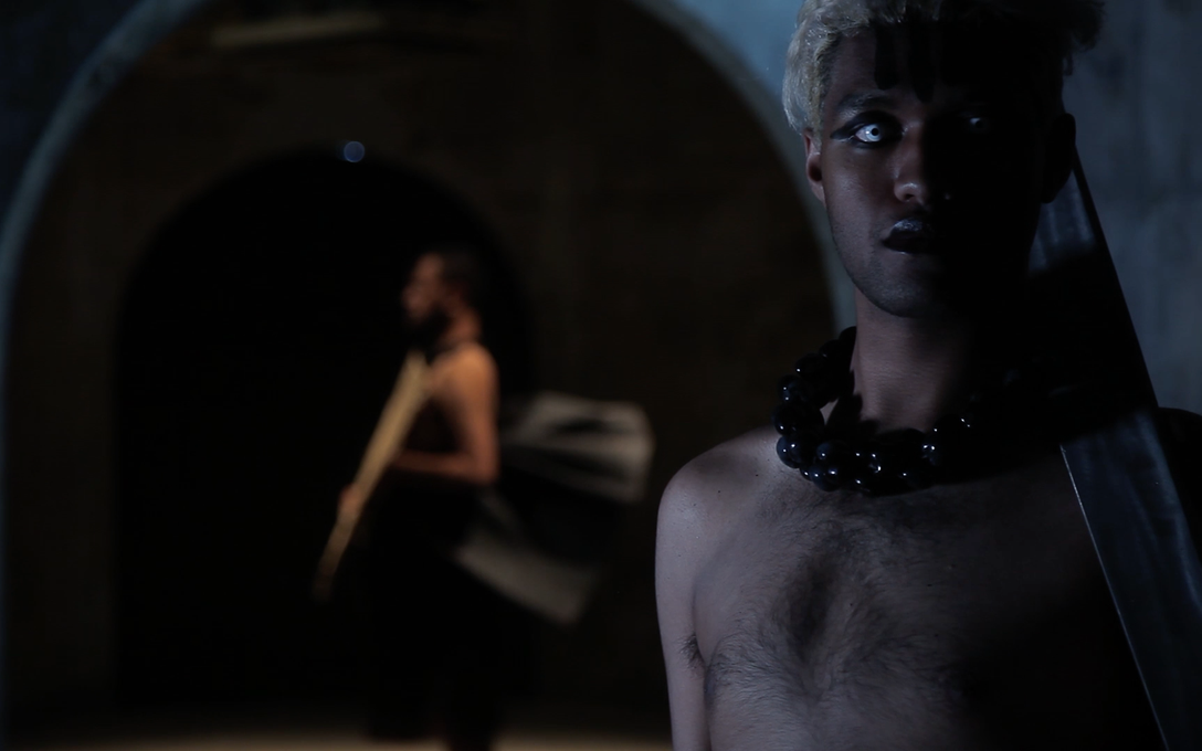 Manu Vaea, Pati Solomona Tyrell, Sione Monu, WITCH BITCH presents Statuesque Anarchy, 2017. Three-channel digital video, single channel video still. Image may not be reproduced without permission from the artists.