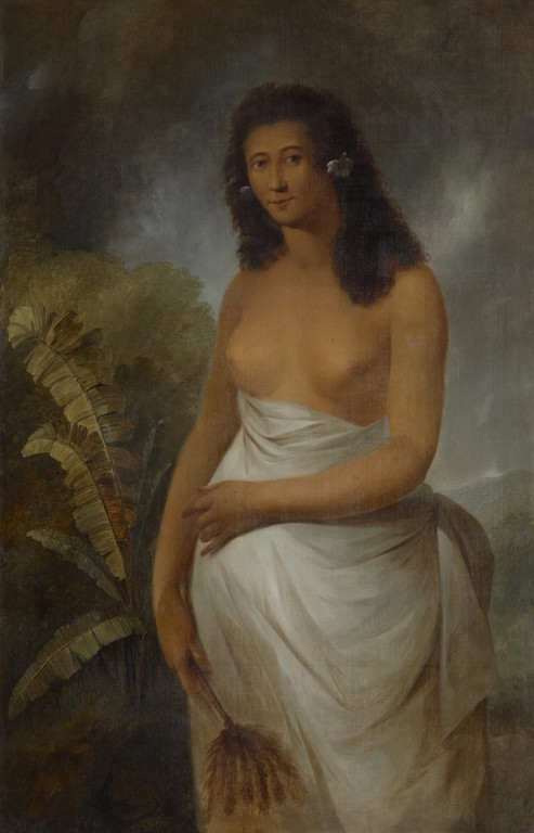 John Webber, Poedua [Poetua], daughter of Oreo, chief of Ulaietea, one of the Society Isles, 1785. Purchased 2010. Te Papa: 2010-0029-1.
