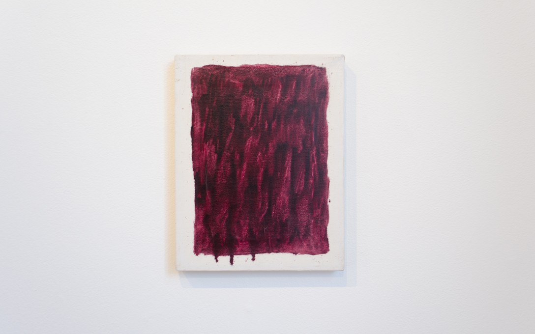 Elizabeth Newman, Untitled (purple lake), 1987. Oil on canvas. Image courtesy of Oscar Perry.