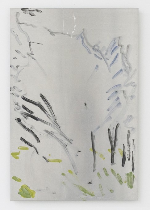Fiona Williams, Untitled (Pine Ave), 2017, oil on aluminium. Collection of Ruth Höflich. Image courtesy of Cheska Brown.