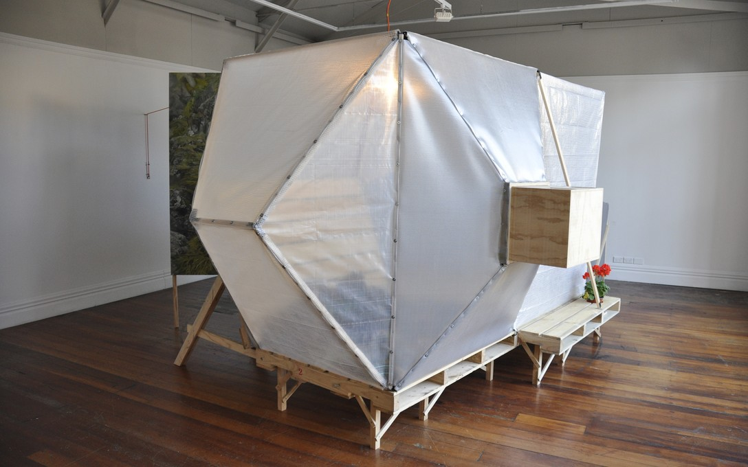 Andy Irving and Keila Martin, Apocalypse Tent, 2012. Image courtesy of Lance Cash.