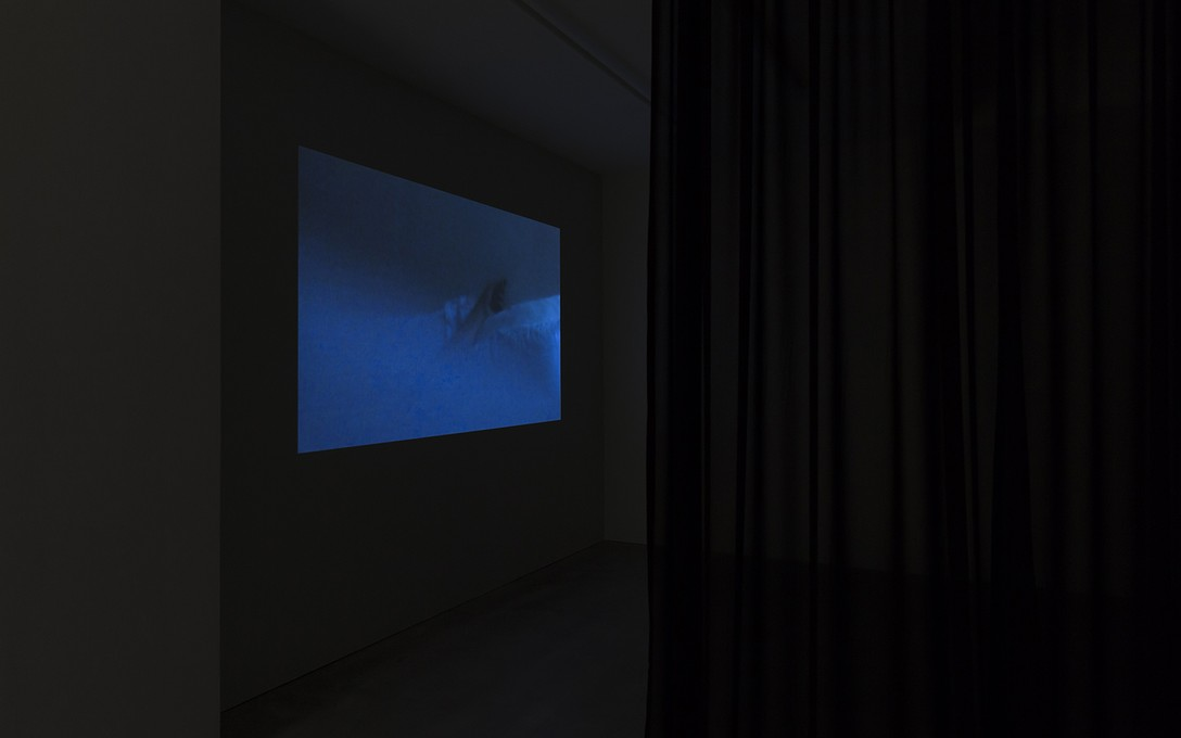 Selina Ershadi, The hands also look, 2020, HD digital video, sound design by Frances Duncan, 1:10:00, installation view. Image courtesy of Cheska Brown.