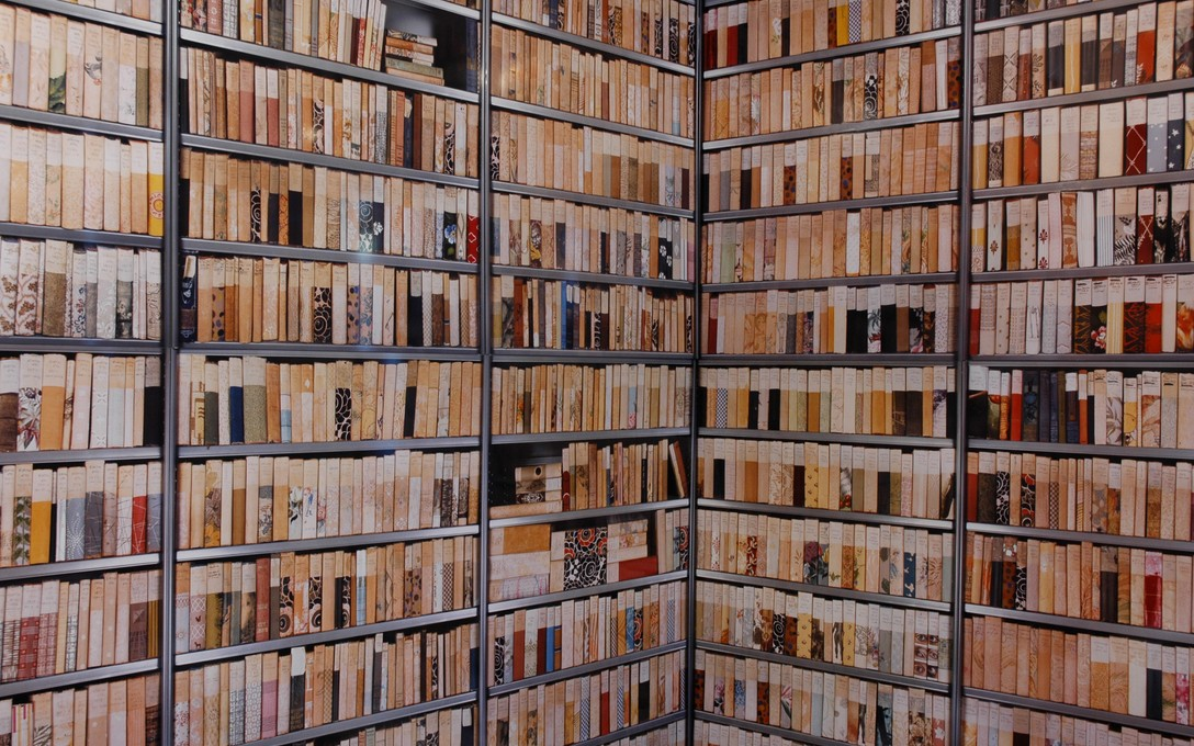Ann Shelton, a library to scale, 2007. Image courtesy of Jeremy Booth.