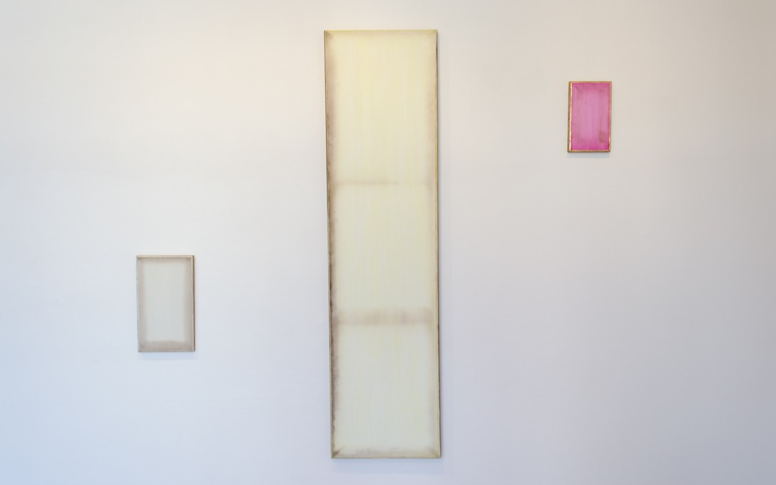Johl Dwyer, Verso, 2014 [left], Make-up, 2014 [centre], Rose, 2014 [right]. Image courtesy of Oscar Perry.