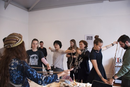 Knotting workshop with Wai Ching Chan, 4 May 2019.