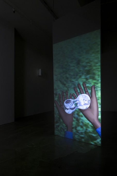 Sorawit Songsataya, Offspring of rain, 2019, digital video, 10:00, installation view. Image courtesy of Cheska Brown.