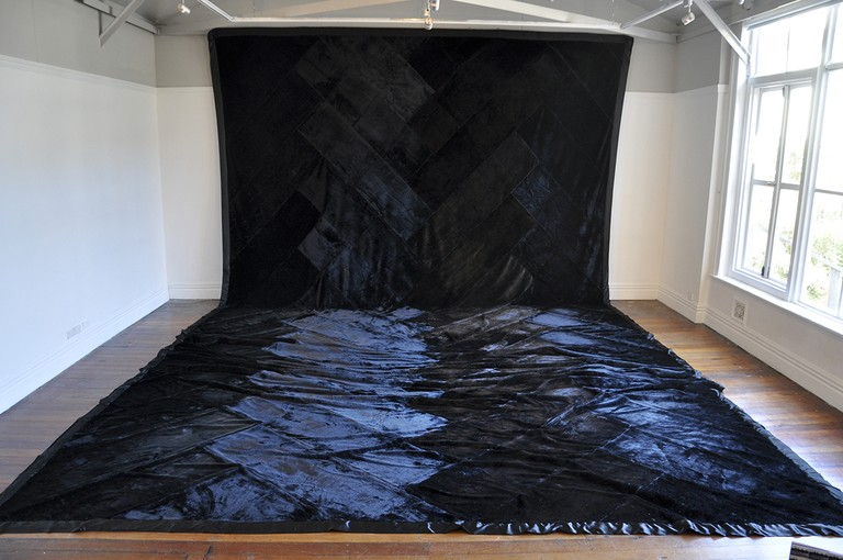 Fig 1. Mata Aho Collective, Te Whare Pora, mink blankets, installation view. 2013 © Enjoy Public Art Gallery
