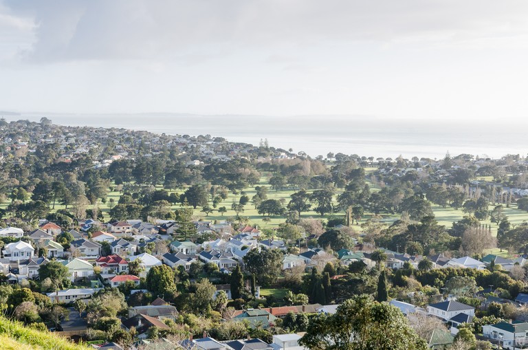 Mary Macpherson, Looking towards the Waitemata Golf Course, Auckland. Archival inkjet print, 420x594mm, series 2011-2014. © Mary Macpherson