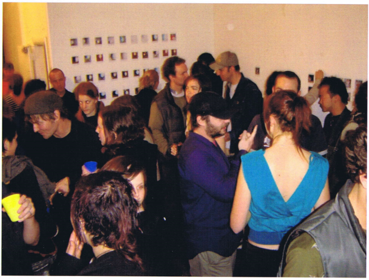 STAFF Project Polaroid night, Enjoy Public Art Gallery, Friday 24 September 2004. Image courtesy of Enjoy Public Art Gallery.