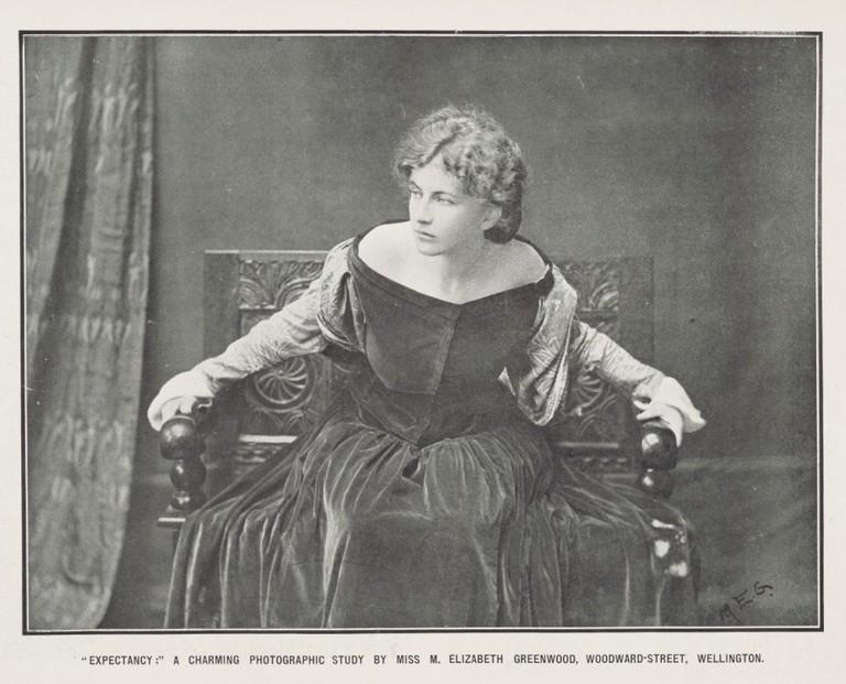 Figure 6: Elizabeth Greenwood, Expectancy, circa 1907, published in New Zealand Graphic, 16 March 1907, p. 3, Sir George Grey Special Collections, Auckland Libraries: NZG-19070316-3-1.
