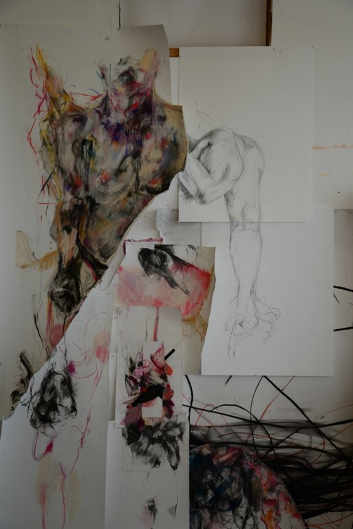 Sian Torrington, Self Portrait, detail, mixed media on paper, dimensions variable, 2015. Image courtesy of Christ Bramwell.