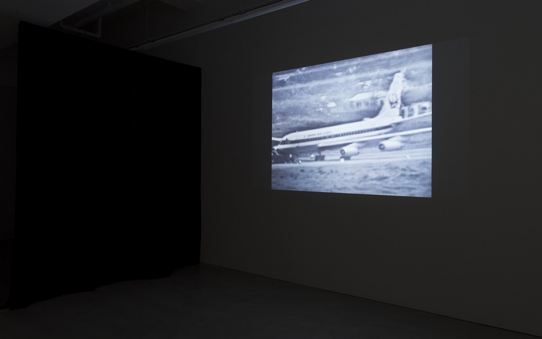 Naeem Mohaiemen, United Red Army (The Young Man Was, Part I), 2011, HD digital video, 1:10:00, installation view. Image courtesy of the artist, Experimenter, Kolkata, India and Cheska Brown.