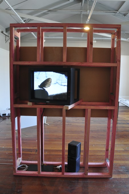 Aline Keller, Explanation at the tree trunk, 2005. Image courtesy of Lance Cash.