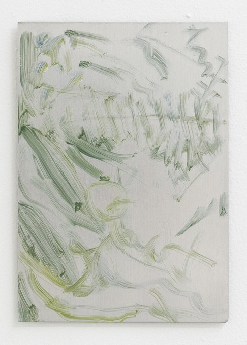 Fiona Williams, Untitled, 2018, oil on aluminium. Image courtesy of Cheska Brown.