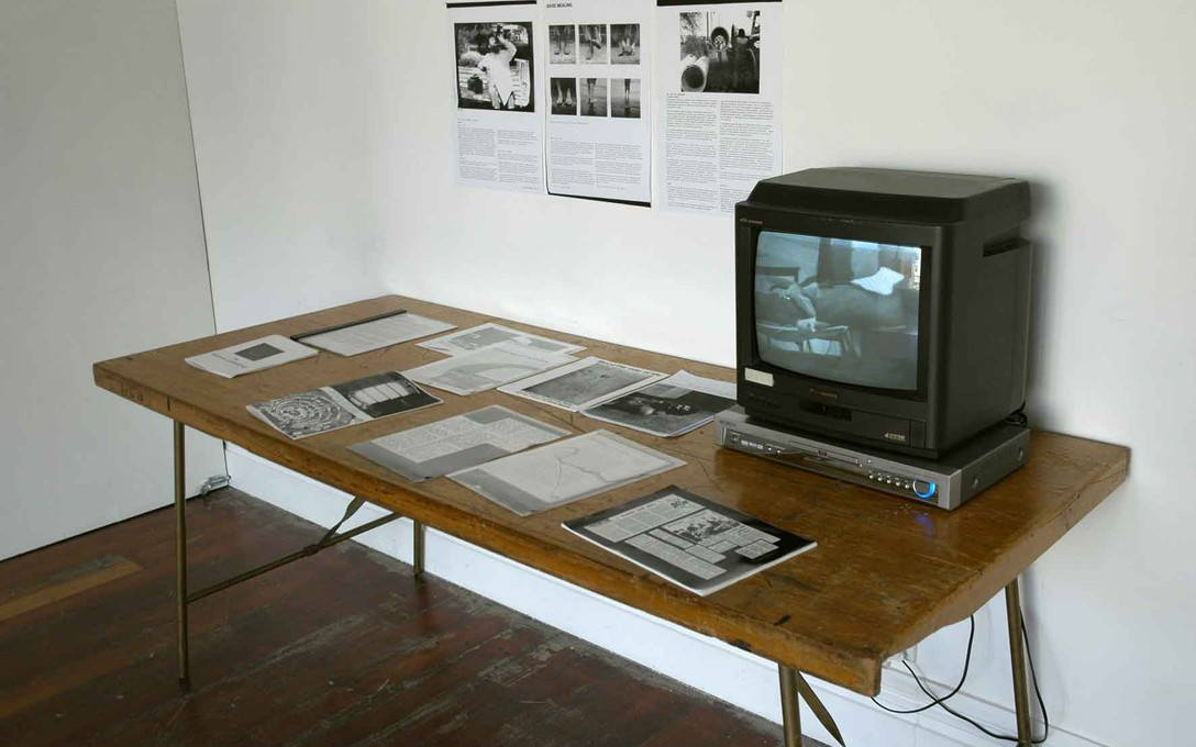 Documentation of David Mealing Projects, Every Now & Then, 2006. Image courtesy fo Jenny Gillam.