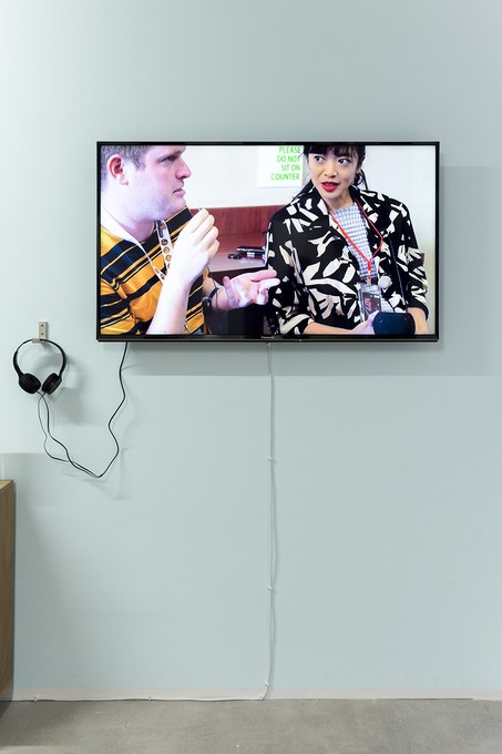 Li-Ming Hu, Acting not acting, 2020, digital video, 04:32, installation view. Image courtesy of Cheska Brown.