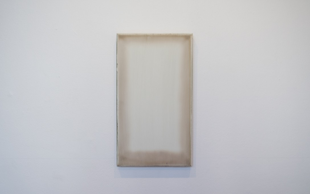 Johl Dwyer, Verso, 2014. Plaster, acrylic, cedar 300 x 300 x 20mm. Image courtesy of Oscar Perry.