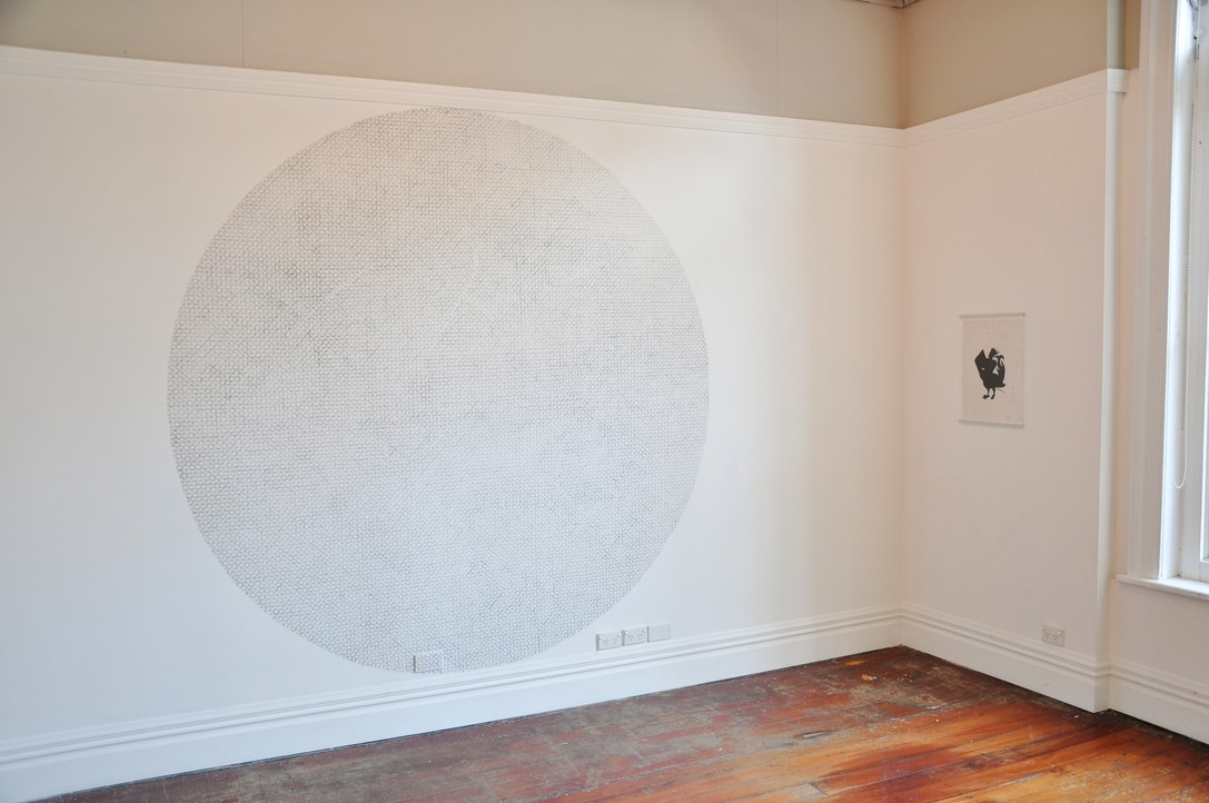 Sjoerd Westbroek, Lines Intersecting on a Circular Plane, 2010. Image courtesy of Lance Cash.