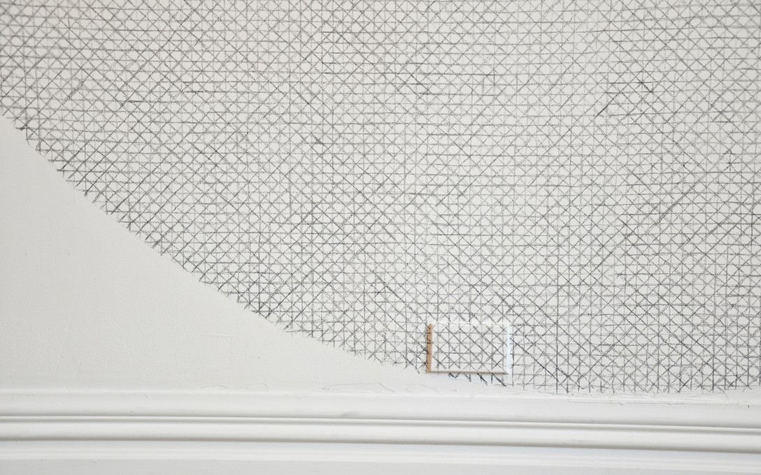 Sjoerd Westbroek, Lines Intersecting on a Circular Plane (detail), 2010. Image courtesy of Lance Cash.