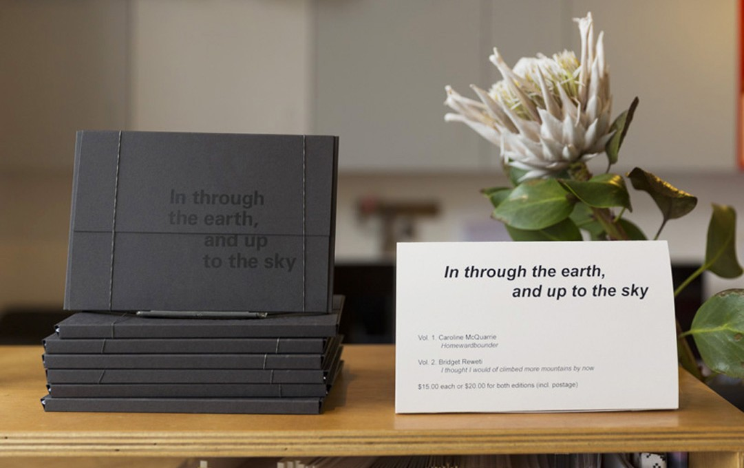 In through the earth, and up to the sky publication. Image courtesy of Shaun Matthews.