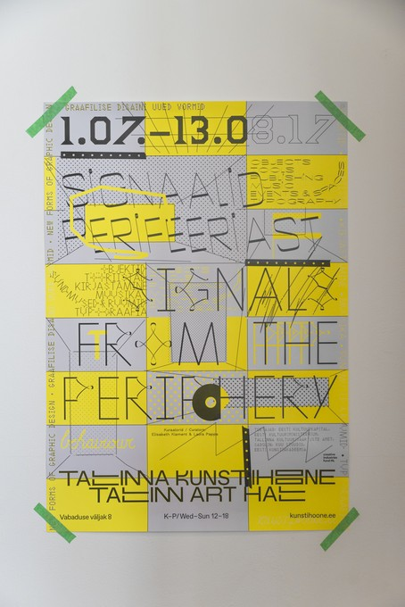 David Bennewith, I digress, 2017, 'Signals from the Periphery' poster designed by Jan Tomson. Image courtesy of Shaun Matthews.