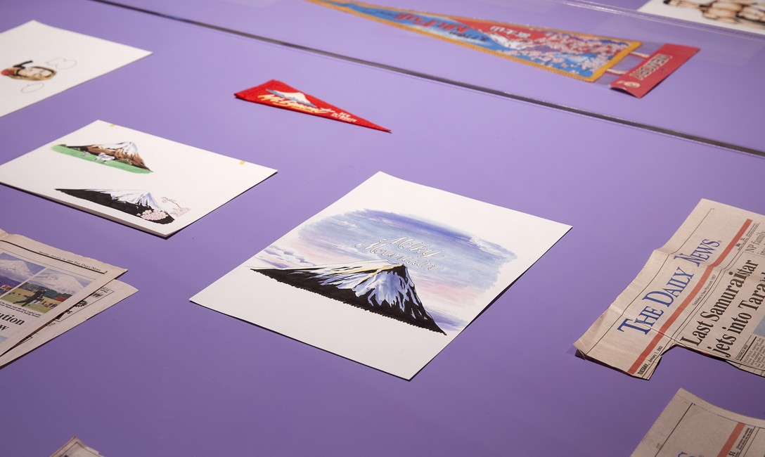Yuichiro Tamura, Milky Mountain / 裏返りの山, 2019, detail, installation view at Govett-Brewster Art Gallery/Len Lye Centre. Photo Sam Hartnett.