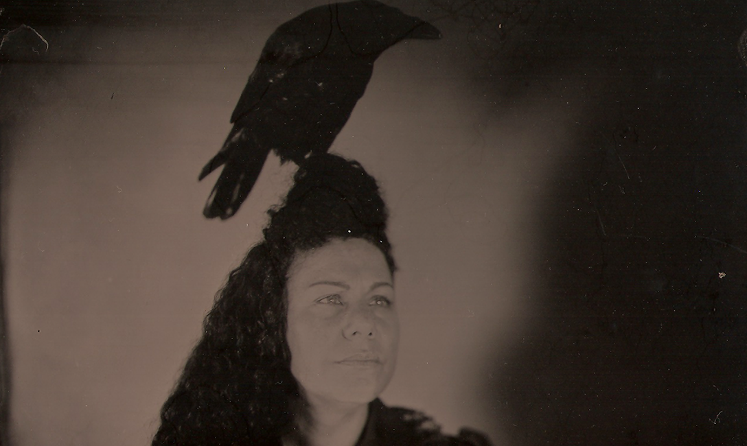 Jasmine Togo-Brisby, Birds of a Feather, 2017, collodion on tin. Image courtesy of the artist.