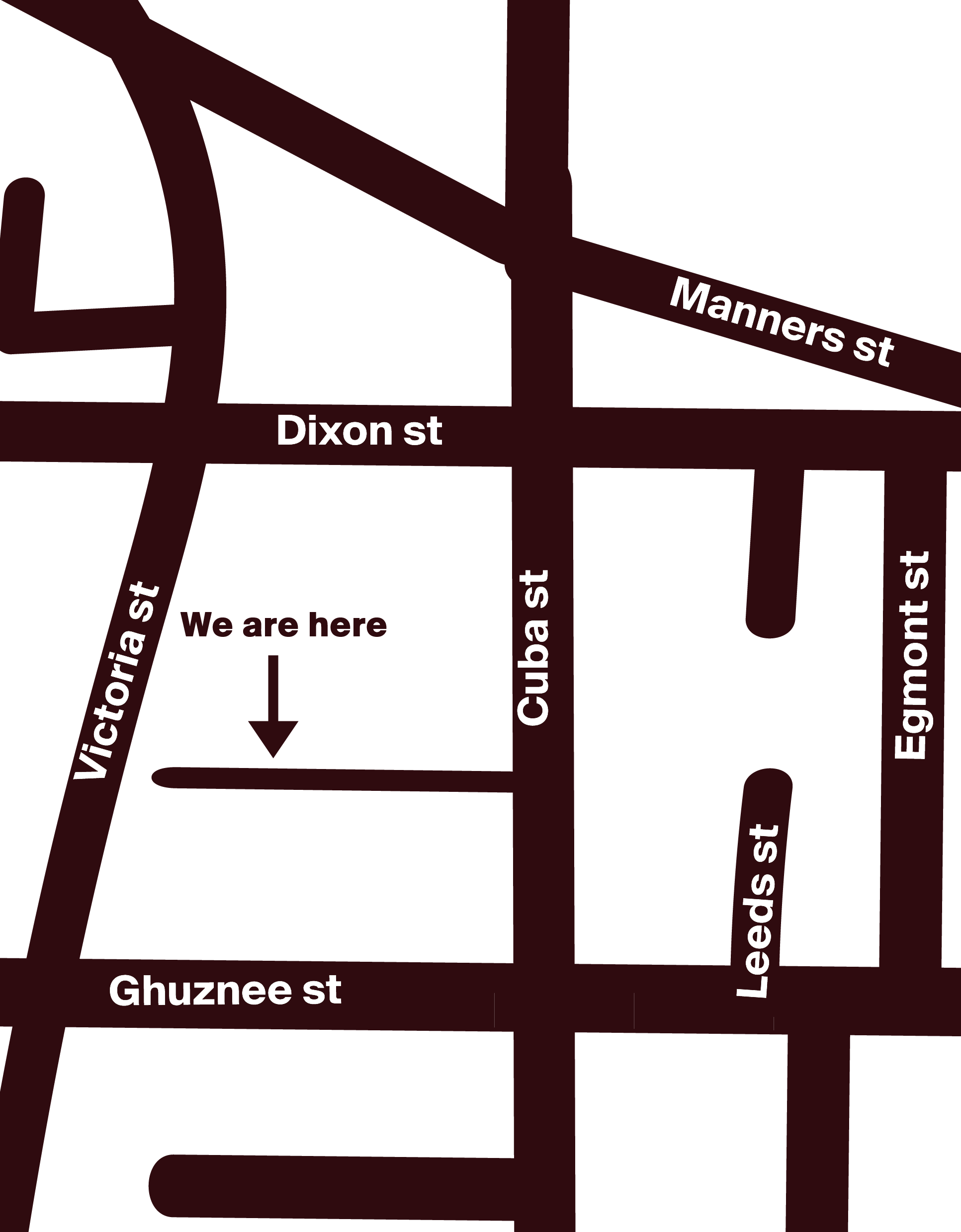 Map of Te Aro showing Enjoy's location